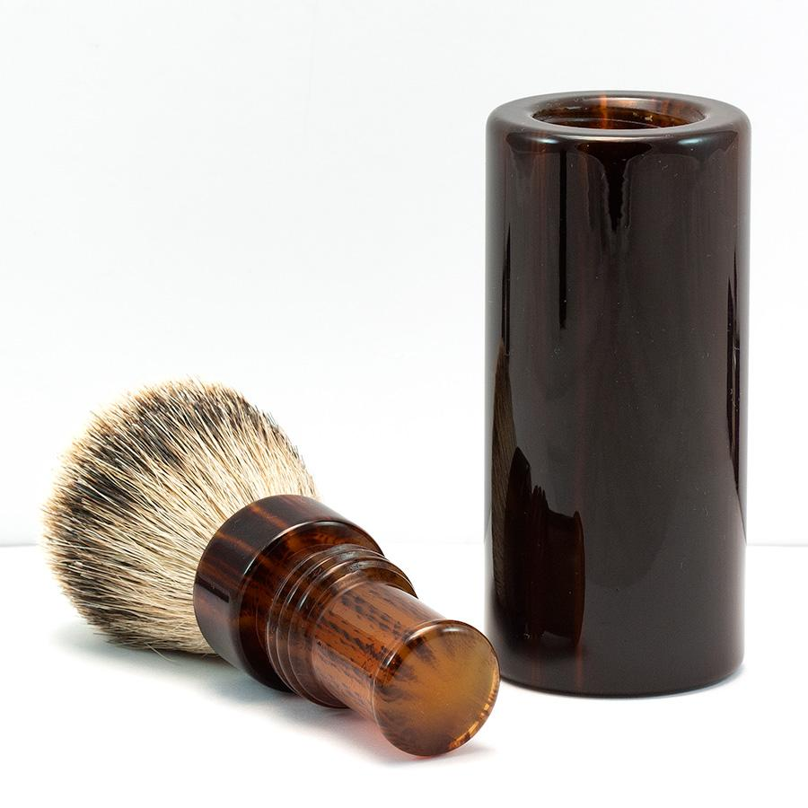 Silvertip Badger Hair Turnback Travel Shaving Brush Badger Bristles Shaving Brush Fendrihan