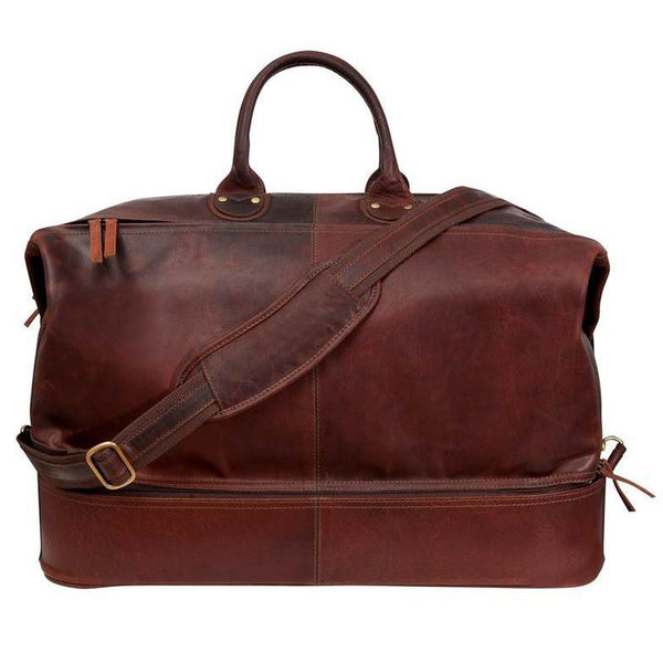 Fendrihan Arizona Aged Leather Travel Bag, Brandy - Fendrihan - 2