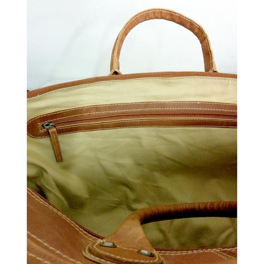 Fendrihan Arizona Buffed Waxed Leather Travel Bag, Cognac - Fendrihan - 5