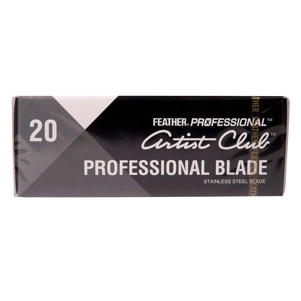 20 Feather Professional Single-Edge Razor Blades Straight Razor Feather