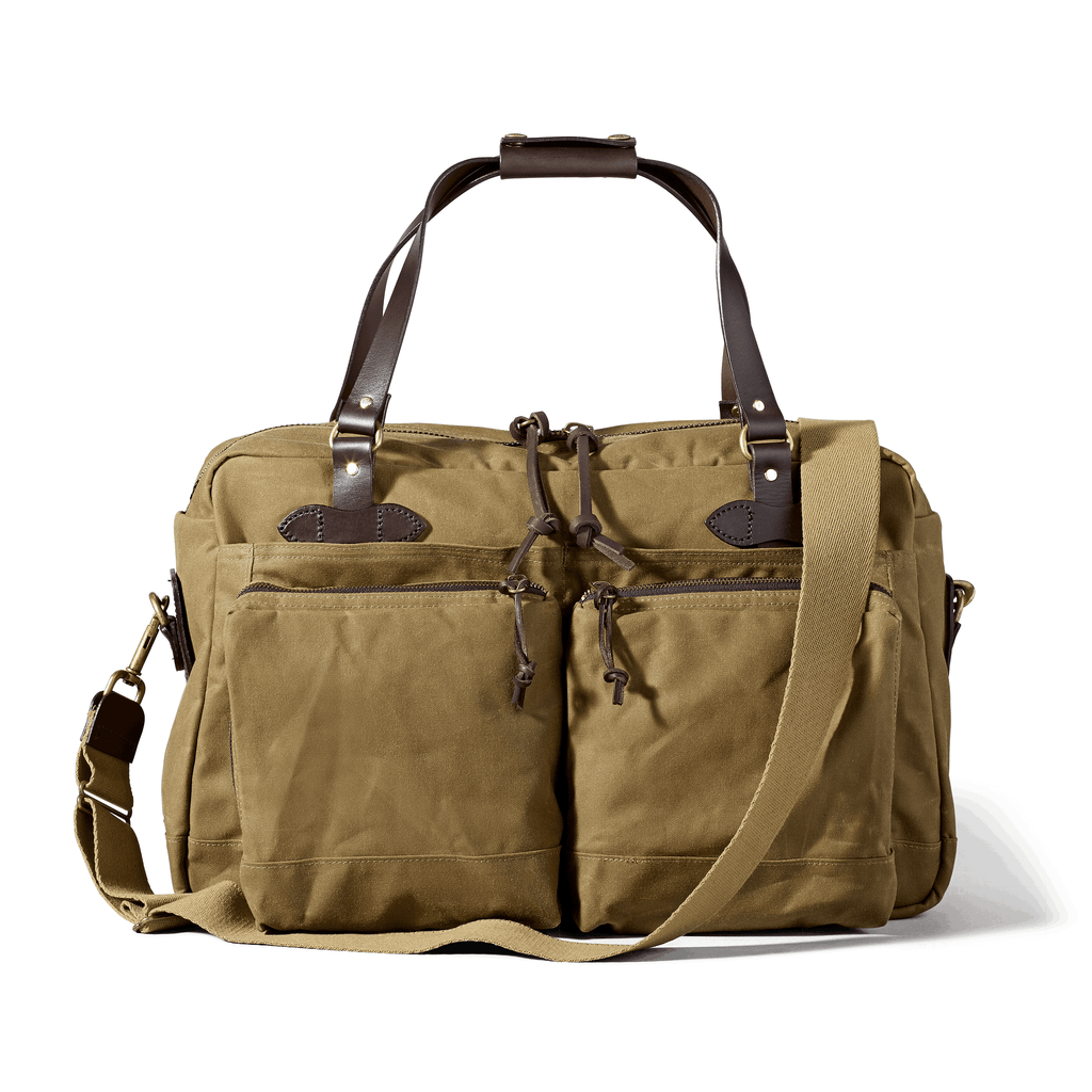 FILSON 48-Hour Tin Cloth Duffle Bag Duffle Bag FILSON Dark Tan