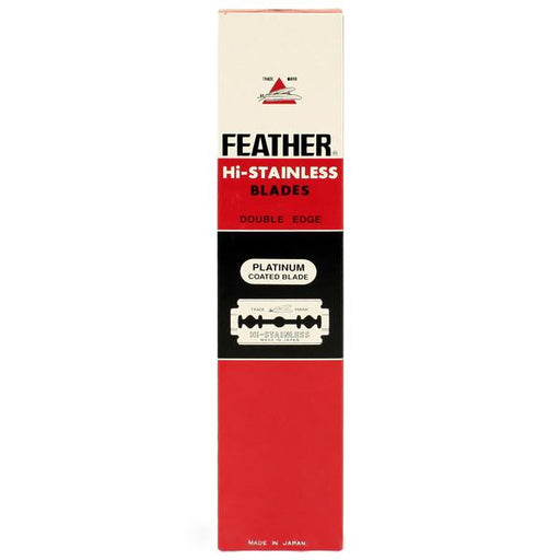 100 Black Feather Double-Edge Safety Razor Blades - Fendrihan