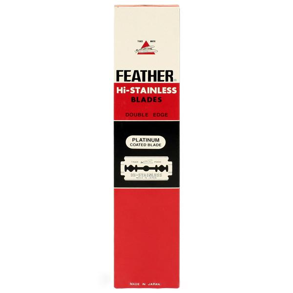 100 Black Feather Double-Edge Safety Razor Blades Razor Blades Feather