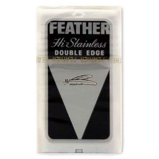 10 Black Feather Double-Edge Safety Razor Blades - Fendrihan
