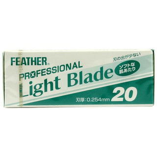 20 Feather Professional Light Single-Edge Razor Blades Straight Razor Feather