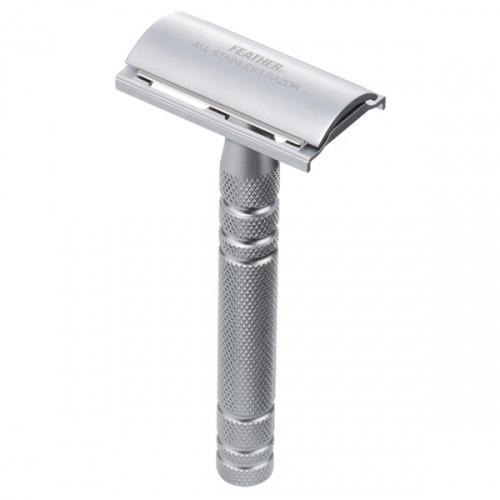 Feather AS-D2S Stainless Steel Double Edge Razor and Stand, Made in Japan - Fendrihan - 3