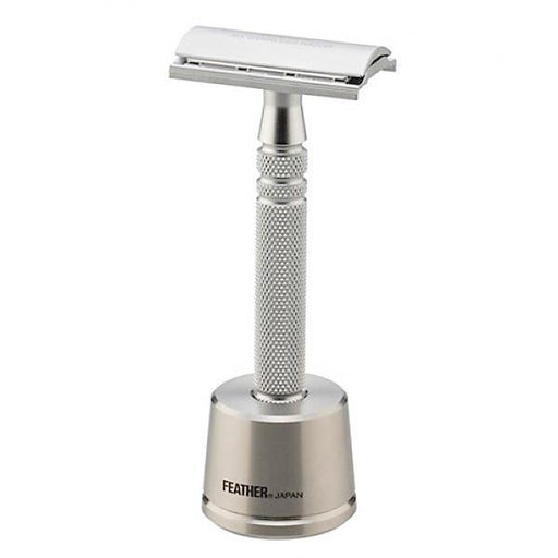 Feather AS-D2S Stainless Steel Double Edge Razor and Stand, Made in Japan - Fendrihan - 1