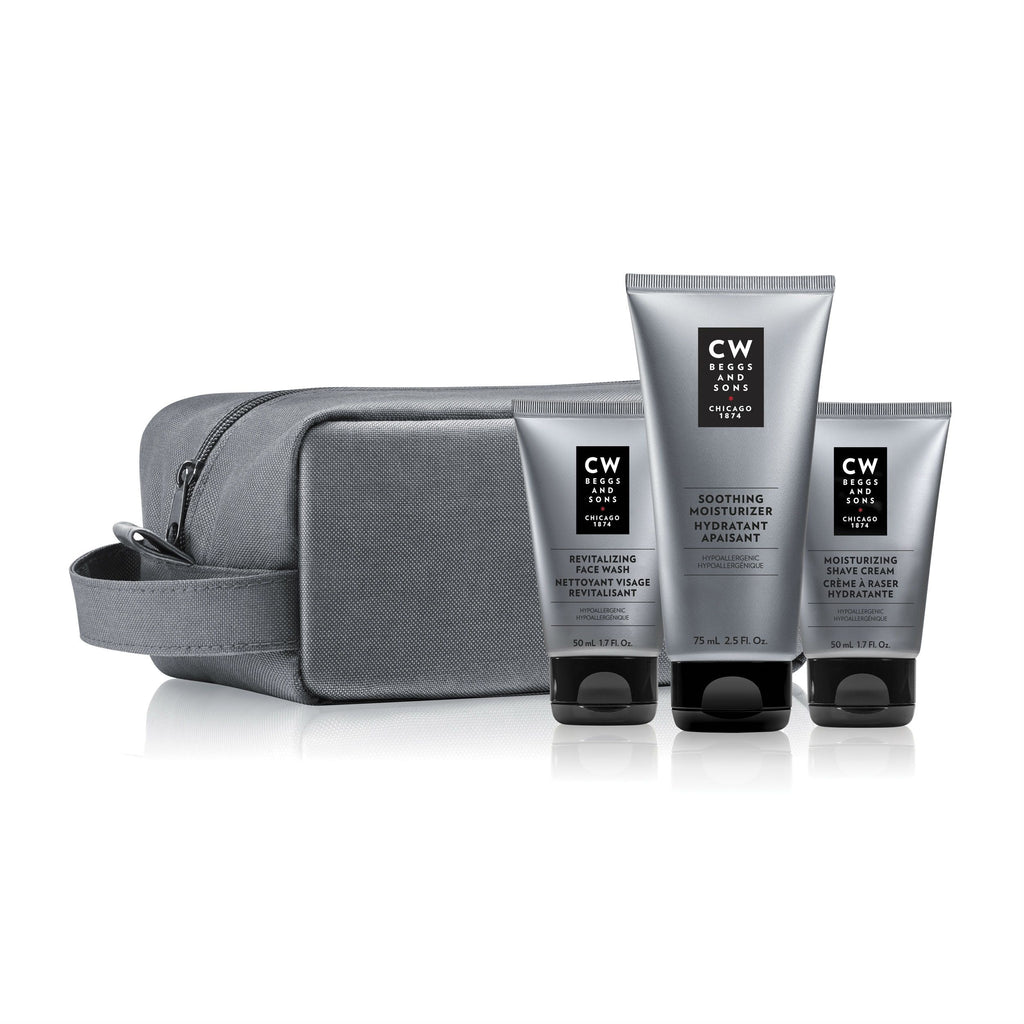 CW Beggs and Sons Discovery Skin Care Set, Sensitive Skin Men's Grooming Kit CW Beggs and Sons
