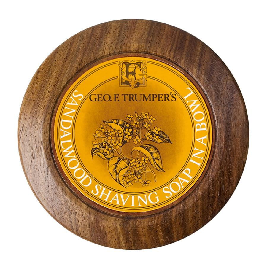 Geo. F. Trumper Sandalwood Shaving Soap with Wooden Bowl - Fendrihan