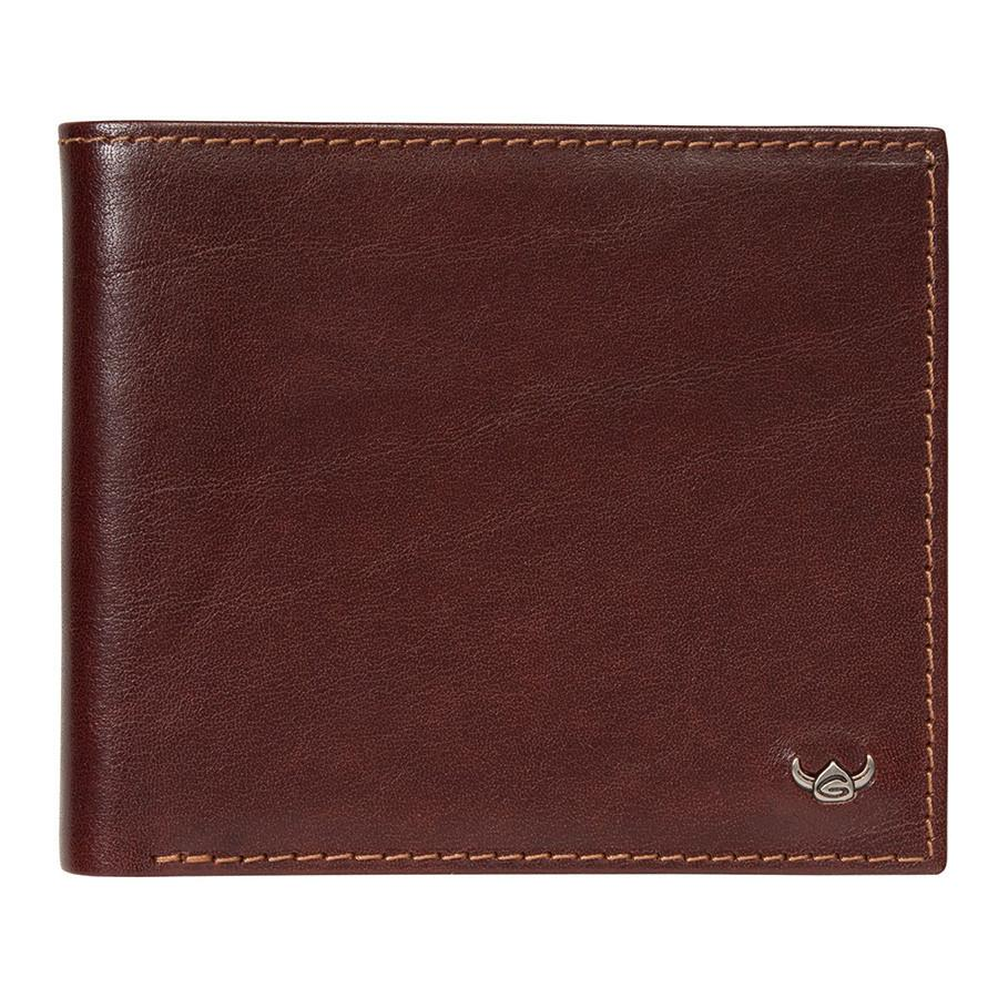 Golden Head Colorado Eco-Tanned Italian Leather Billfold with 8 Credit Card Slots Leather Wallet Golden Head Tobacco