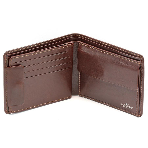 Golden Head Colorado RFID Protect Leather Wallet with Coin Pocket and 8 CC Slots, Tobacco - Fendrihan - 1
