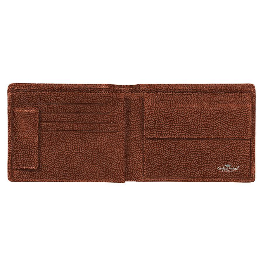 Golden Head Livorno Limited Edition 8 CC Leather Wallet with Coin Pocket, Brown Leather Wallet Golden Head