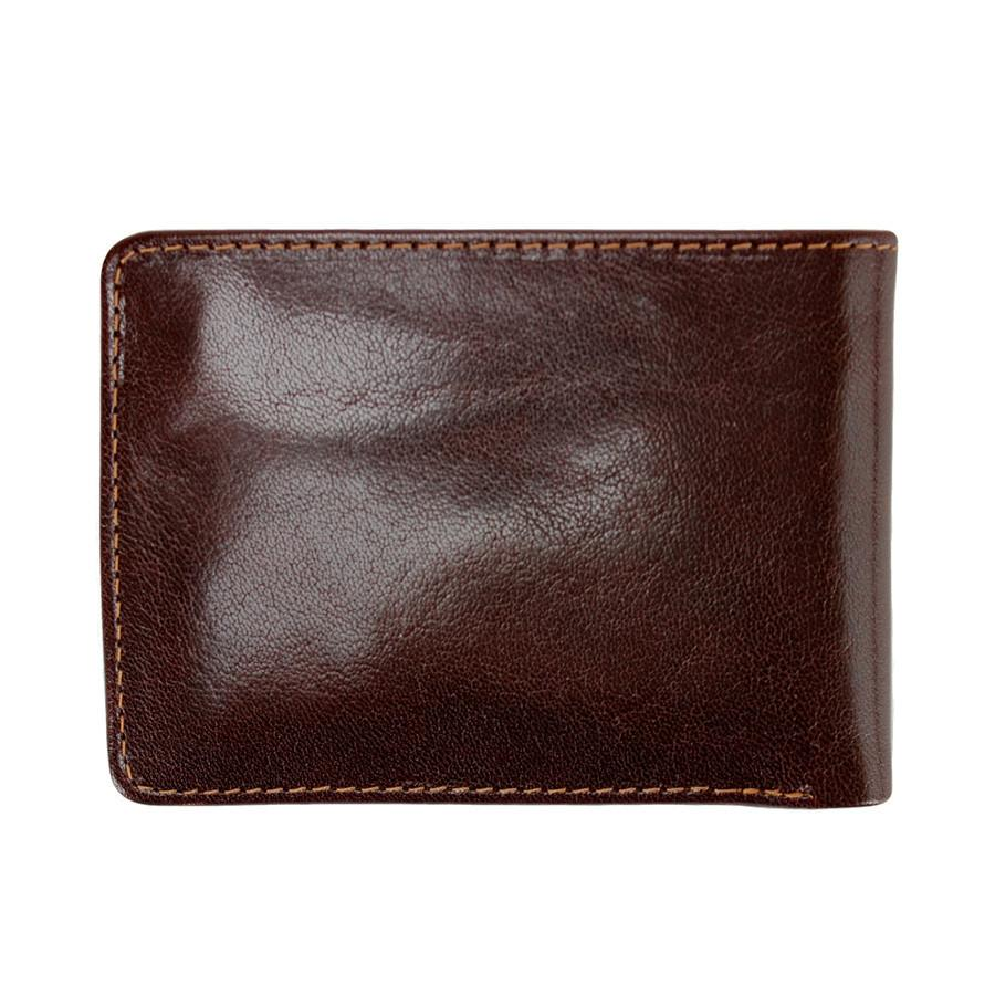 Golden Head Colorado Vegetable-Tanned 2 CC Mini Leather Wallet with Coin Pocket, Tobacco - Fendrihan - 3