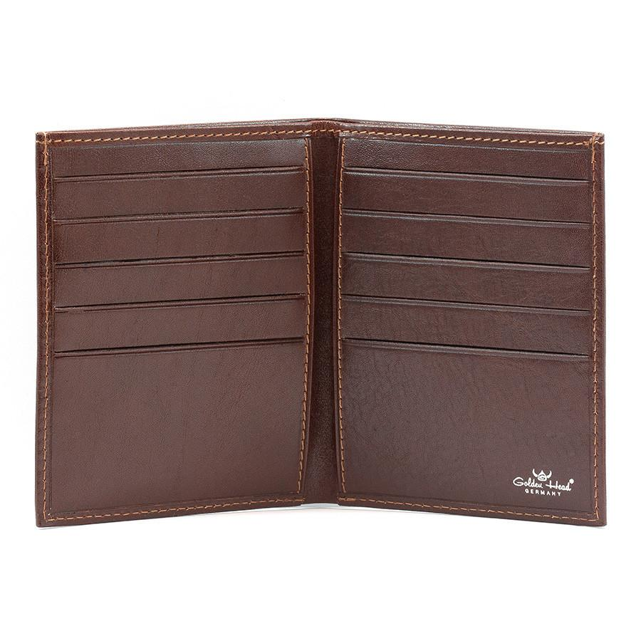 Golden Head Colorado Leather Billfold with 10 Credit Card Slots Leather Wallet Golden Head Tobacco