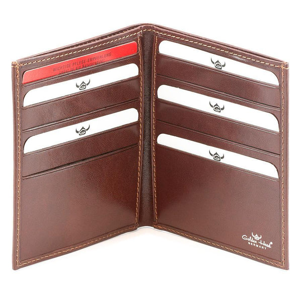 Golden Head Colorado Leather Billfold with 10 Credit Card Slots, Tobacco - Fendrihan - 2