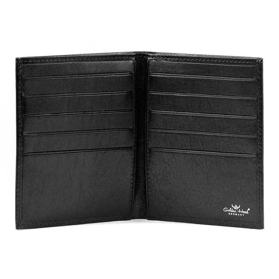 Golden Head Colorado Leather Billfold with 10 Credit Card Slots Leather Wallet Golden Head Black