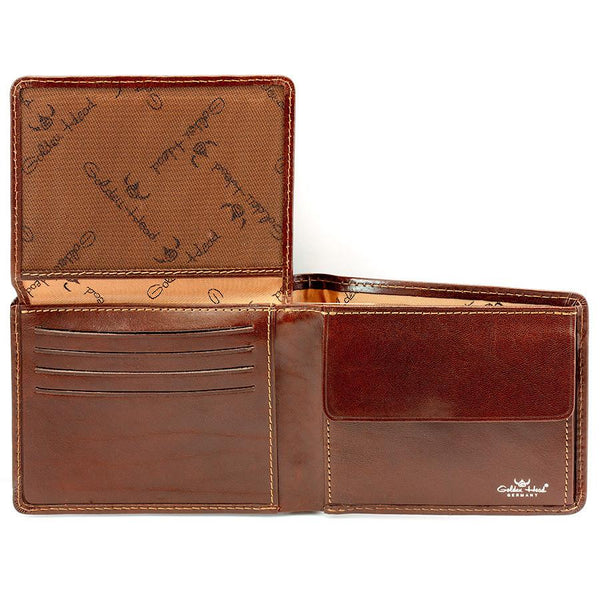 Golden Head Colorado Eco-Tanned Italian Leather Wallet with Coin Purse and 7 CC Slots, Tobacco - Fendrihan - 1