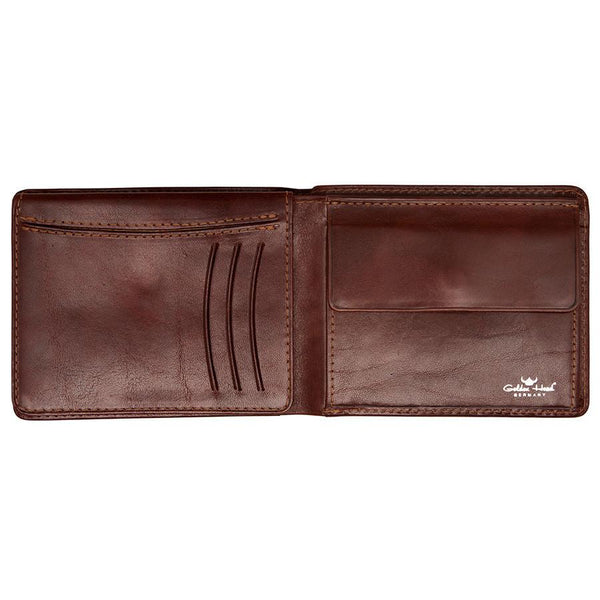 Golden Head Colorado Eco-Tanned Italian Leather Wallet with Coin Purse and 7 CC Slots, Tobacco - Fendrihan - 2