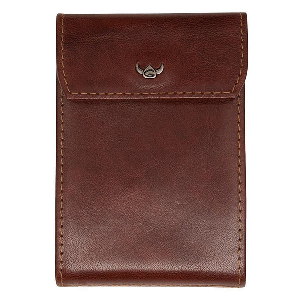 Golden Head Colorado Eco-Tanned Italian Leather 10-Pocket Business Card Case, Tobacco - Fendrihan - 1