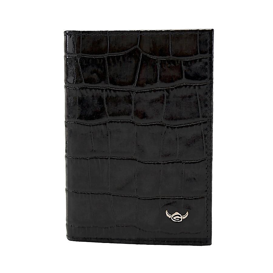 Golden Head Cayman Limited Edition Credit Card Leather Case, Black Leather Wallet Golden Head