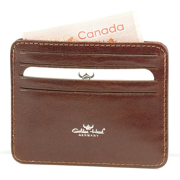 Golden Head Colorado Eco-Tanned Italian Leather 8-Pocket Credit Card Case - Fendrihan - 2