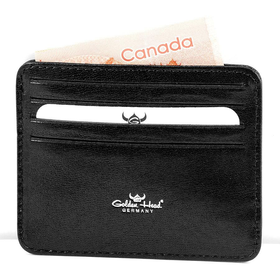 Golden Head Colorado Eco-Tanned Italian Leather 8-Pocket Credit Card Case Leather Wallet Golden Head Black