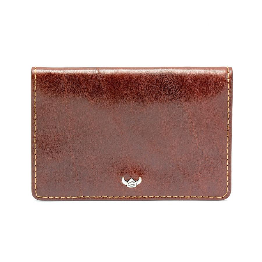 Golden Head Colorado Leather Business Card Case, Tobacco - Fendrihan - 1