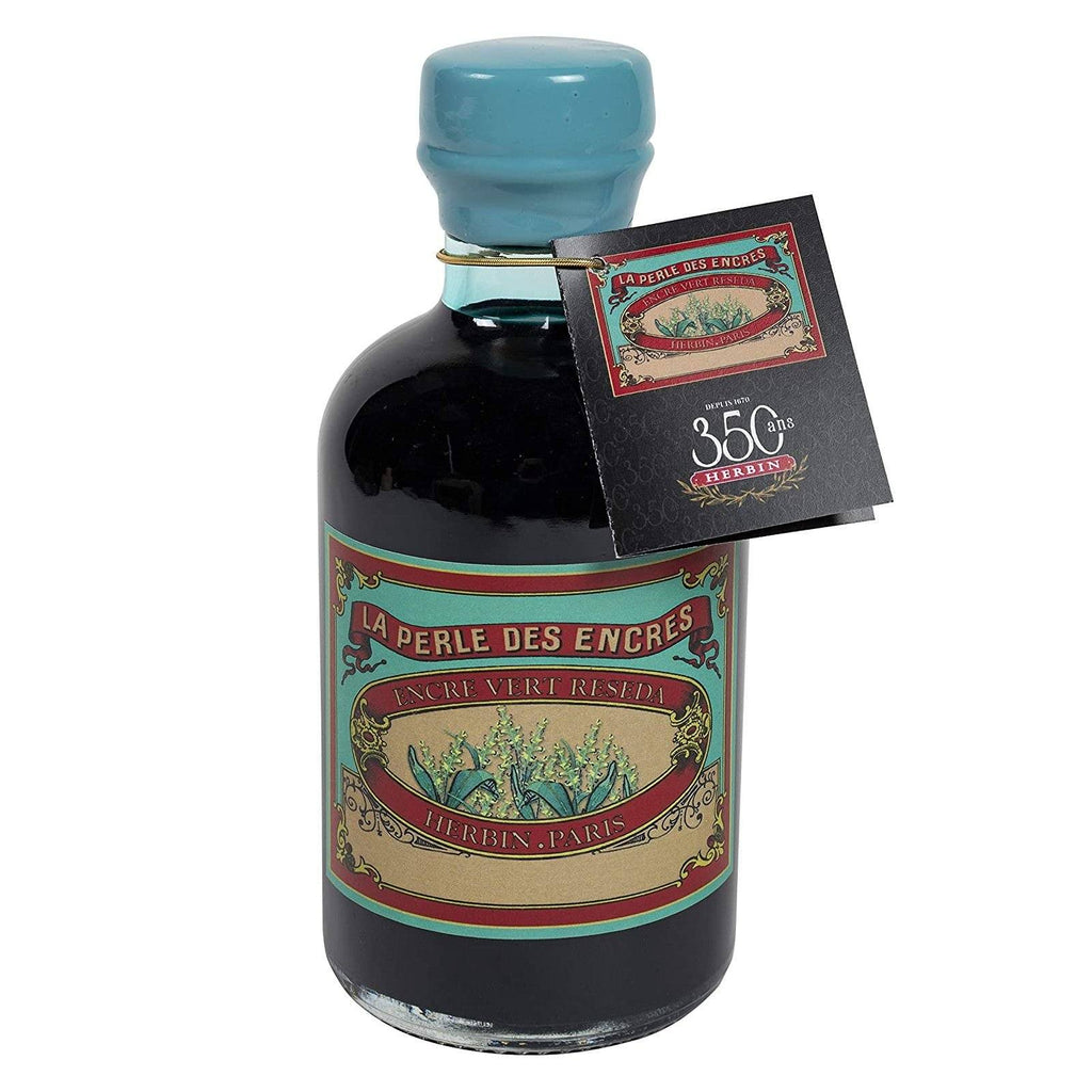 J. Herbin 350th Anniversary Fountain Pen Ink Bottle Ink Refill J. Herbin Reseda Green
