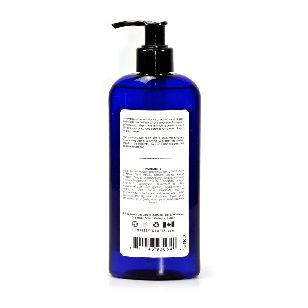 Henri et Victoria 2-in-1 Body and Beard Wash Men's Body Wash Henri et Victoria