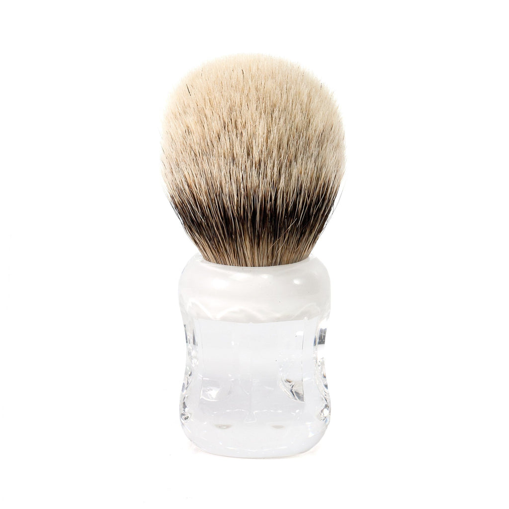 H.L. Thater 49125 Series Silvertip Shaving Brush with Two-Tone Handle, Size 4 Badger Bristles Shaving Brush Heinrich L. Thater White