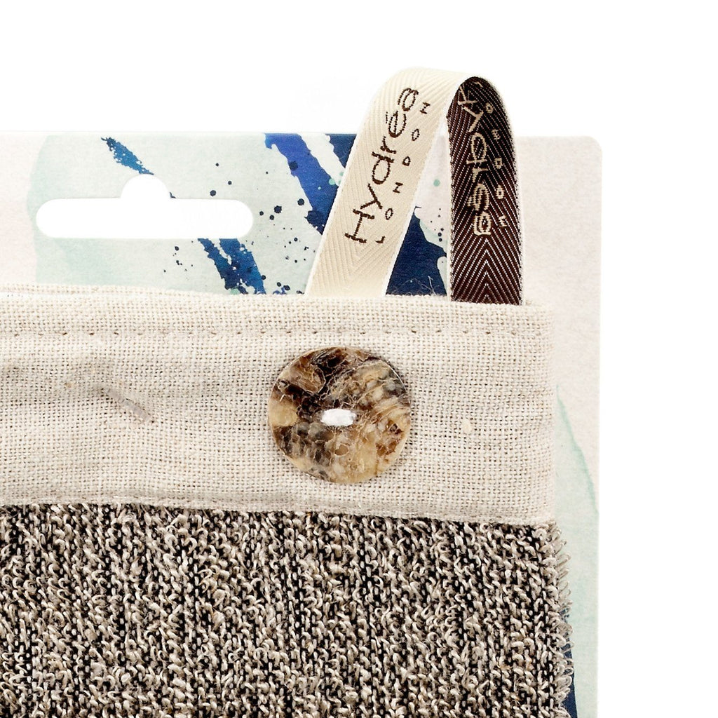 Hydrea London Sisal and Linen Exfoliating Spa Mitt Exfoliating Bath Mitt The Natural Sea Sponge Co