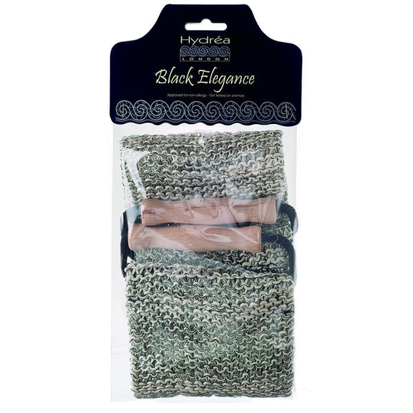 Hydrea London Black and Cream Natural Massage Sisal Strap - Fendrihan - 2