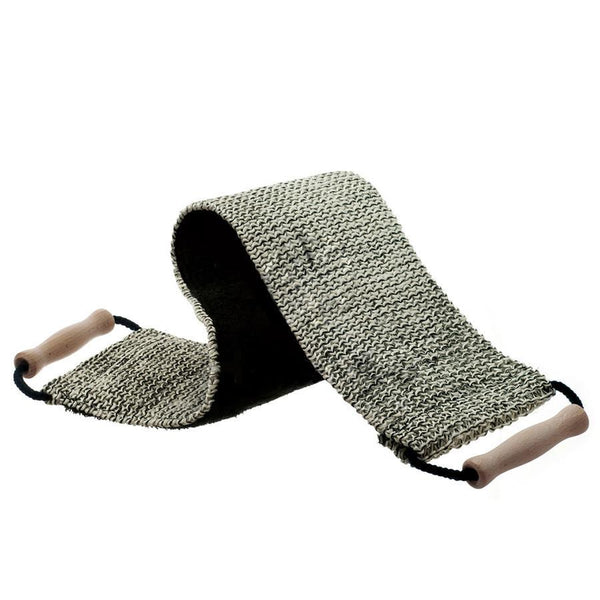 Hydrea London Black and Cream Sisal Cotton Duo Strap - Fendrihan - 1