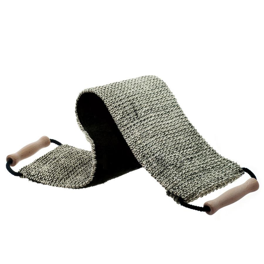 Hydrea London Black and Cream Sisal Cotton Duo Strap Duo Back Strap The Natural Sea Sponge Co