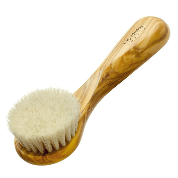 Hydrea London Olive Wood Facial Brush With Medium Strength