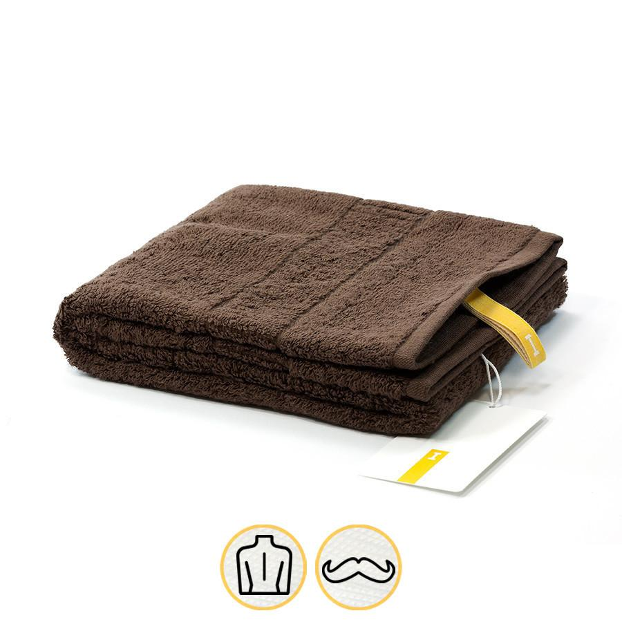 Ikeuchi Organic 316 Cotton Towel, Dark Brown Bath Towel Ikeuchi Face Towel (35 x 72 cm)