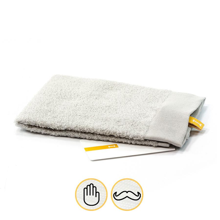 Ikeuchi Organic Air Cotton Towel, Light Grey Towel Ikeuchi Washcloth (35 x 35 cm)