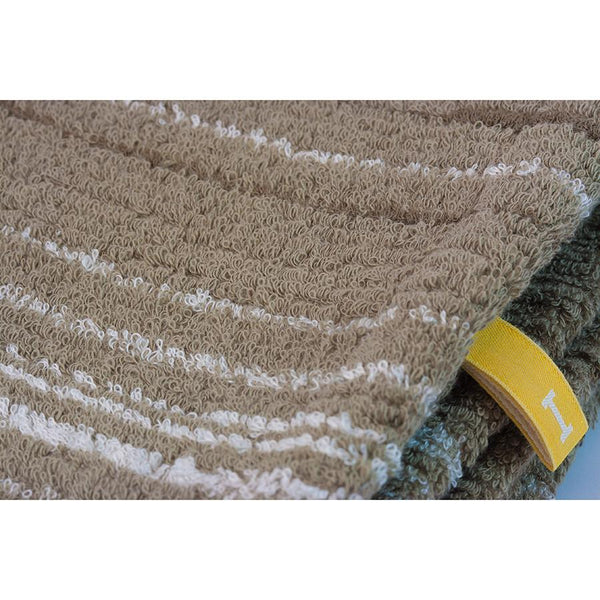 Ikeuchi Stripes II Organic Cotton & Bamboo Towel, Seto Sand - Fendrihan - 2