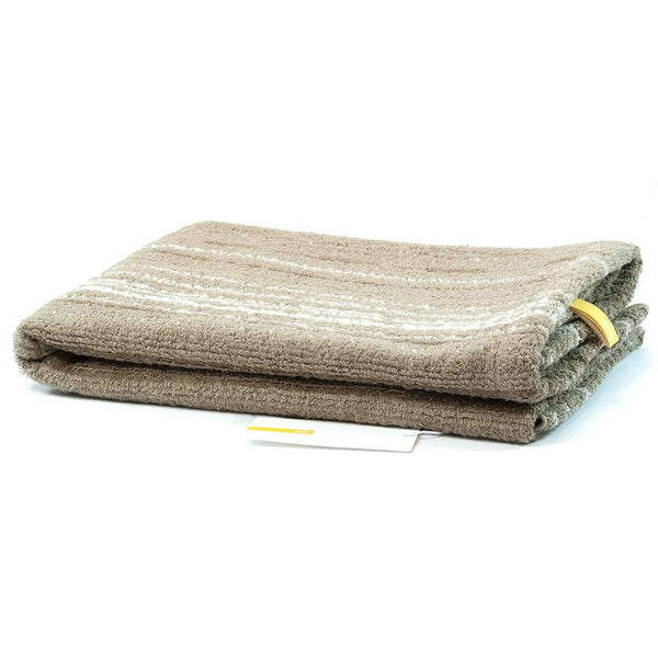 Ikeuchi Stripes II Organic Cotton & Bamboo Towel, Seto Sand - Fendrihan - 1