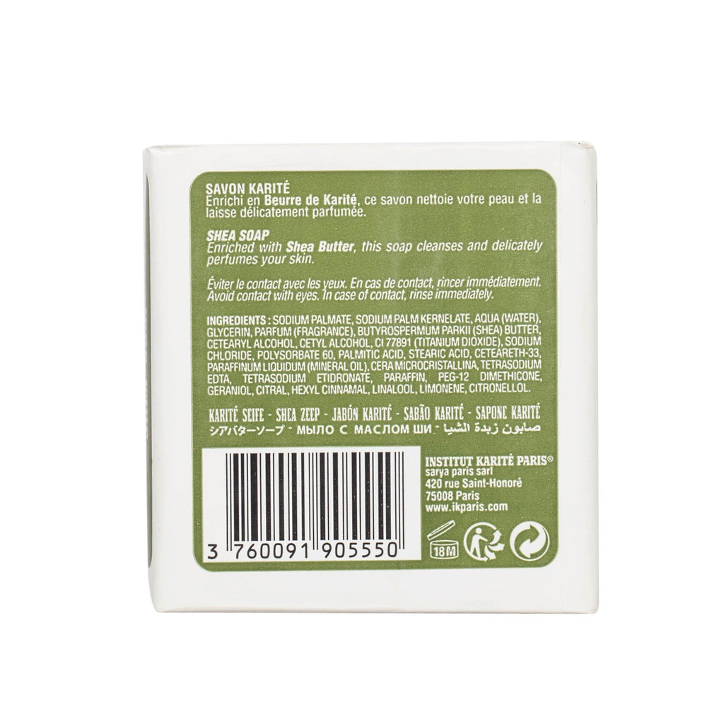 Institut Karite 25% Shea Butter Cream Extra Gentle Soap, Lemon Verbena Body Soap Institut Karite
