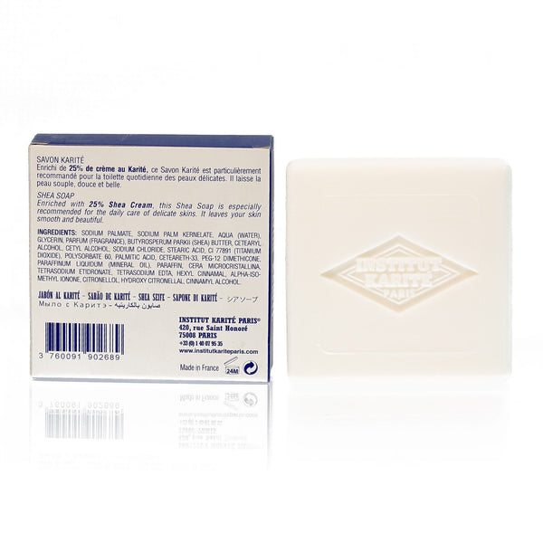 Institut Karite 25% Shea Butter Cream Extra Gentle Soap, Milk Cream - Fendrihan - 3