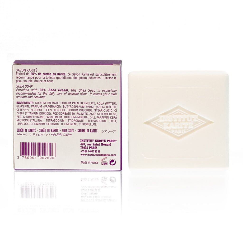 Institut Karite 25% Shea Butter Cream Extra Gentle Soap, Local Lavender Body Soap Institut Karite