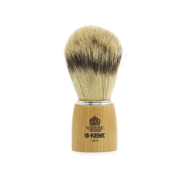 Kent Visage VS70 Pure Bristles with Badger Effect Shaving Brush, Wood Handle - Fendrihan - 1