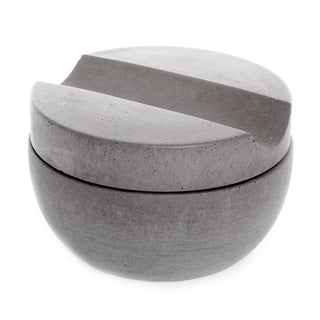 Iris Hantverk Concrete Bowl and Lid with Muhle Sandalwood Shaving Soap Shaving Soap Iris Hantverk Light Grey