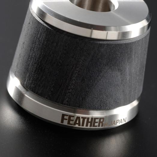 Feather Double Edge Stainless Steel and Wood Safety Razor, with Stand - Fendrihan - 3