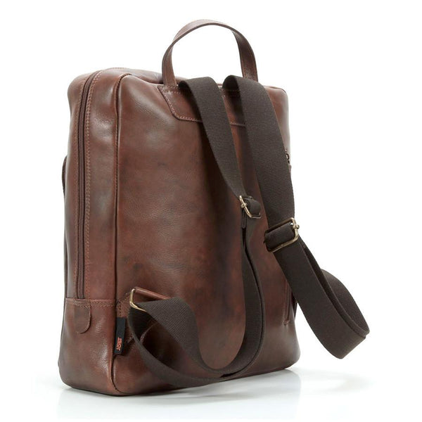 "Jost Ranger Leather Backpack with 14"" Laptop Compartment, Cognac - Fendrihan - 2"