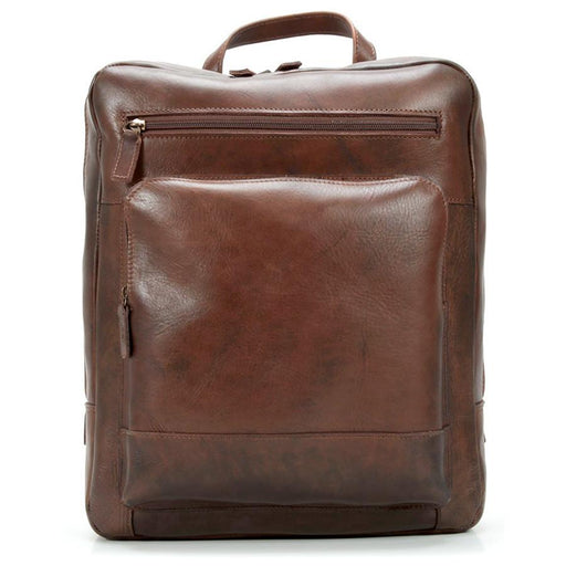 "Jost Ranger Leather Backpack with 14"" Laptop Compartment, Cognac - Fendrihan - 1"