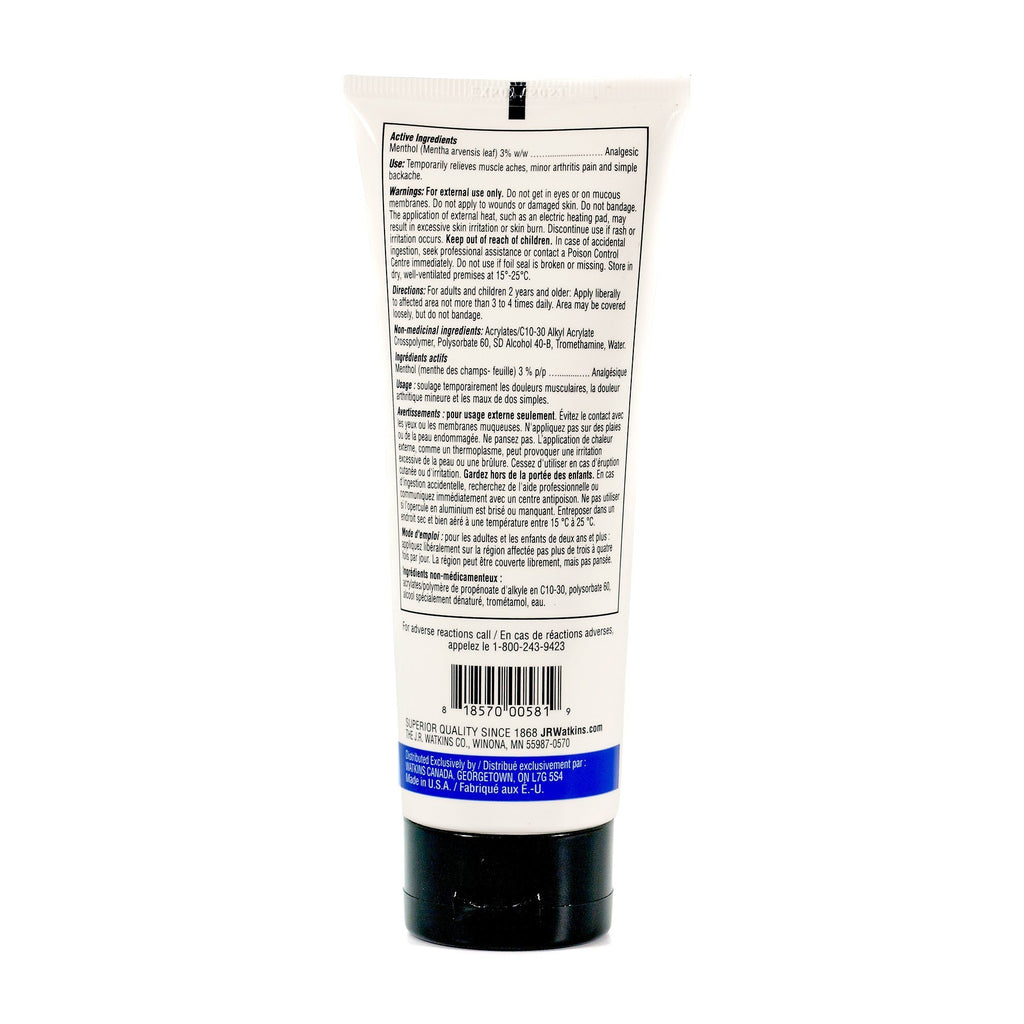 J. R. Watkins Deep Muscle Cooling Gel Apothecary Remedies For The Body J. R. Watkins