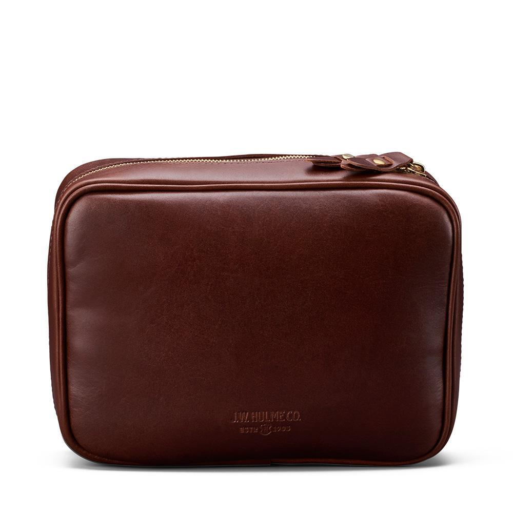 J. W. Hulme Co. Travel Case, American Heritage Brown Leather Grooming Travel Case J. W. Hulme Co