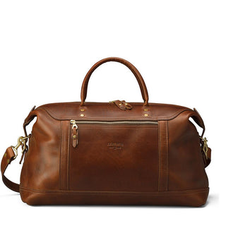 J. W. Hulme Co. Weekend Satchel, American Heritage Brown Leather Leather Bag J. W. Hulme Co